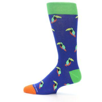 Image of Blue Green Toucan Bird Men's Dress Socks (side-2-12)