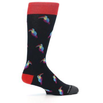 Image of Black Multi Color Toucan Men's Dress Socks (side-1-24)