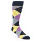Navy Purple Argyle Socks