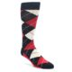 Image of Black Red White Dot Men's Dress Socks Gift Box 4 Pack (front-04)