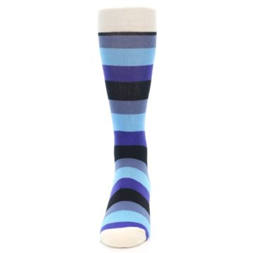 Image of Blues Stripe Men's Dress Socks (front-05)