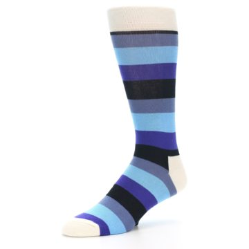 Image of Blues Stripe Men's Dress Socks (side-2-09)