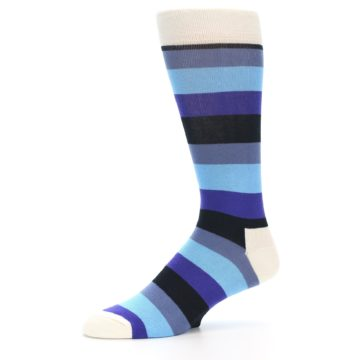 Image of Blues Stripe Men's Dress Socks (side-2-10)
