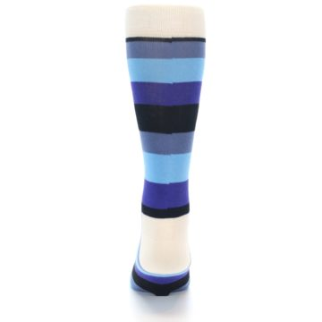 Image of Blues Stripe Men's Dress Socks (back-18)