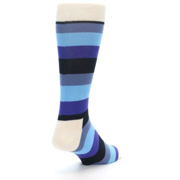Image of Blues Stripe Men's Dress Socks (side-1-back-21)