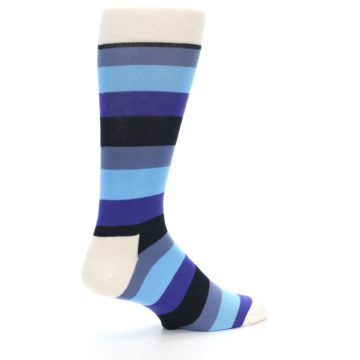 Image of Blues Stripe Men's Dress Socks (side-1-23)