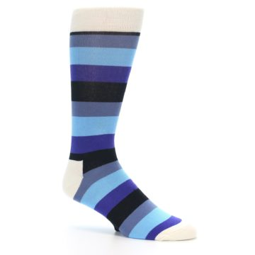 Image of Blues Stripe Men's Dress Socks (side-1-26)