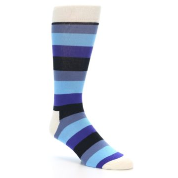 Image of Blues Stripe Men's Dress Socks (side-1-27)