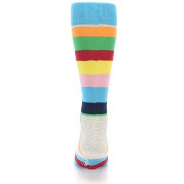 Image of Multi Color Stripe Men's Dress Socks (back-18)