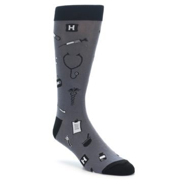 Novelty Hospital Nurse or Doctor Socks for Men
