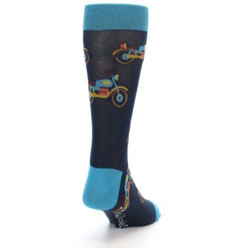 Image of Black Blue Motorcycles Men's Dress Socks (side-1-back-20)