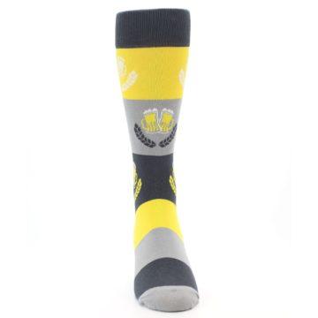Image of Yellow Beer Mug Men's Dress Socks (front-04)