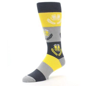 Image of Yellow Beer Mug Men's Dress Socks (side-2-09)