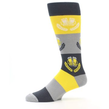 Image of Yellow Beer Mug Men's Dress Socks (side-2-11)