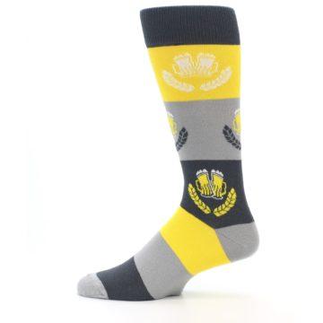 Image of Yellow Beer Mug Men's Dress Socks (side-2-12)