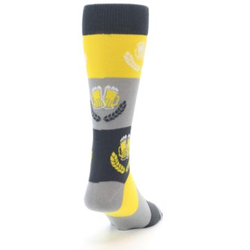 Image of Yellow Beer Mug Men's Dress Socks (side-1-back-20)