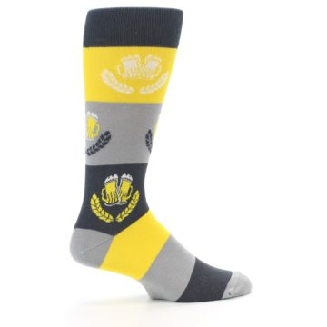 Image of Yellow Beer Mug Men's Dress Socks (side-1-24)