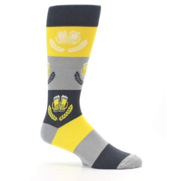 Image of Yellow Beer Mug Men's Dress Socks (side-1-25)