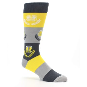 Image of Yellow Beer Mug Men's Dress Socks (side-1-26)