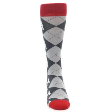 Image of Grey Tent Camping Argyle Men's Dress Socks (front-04)