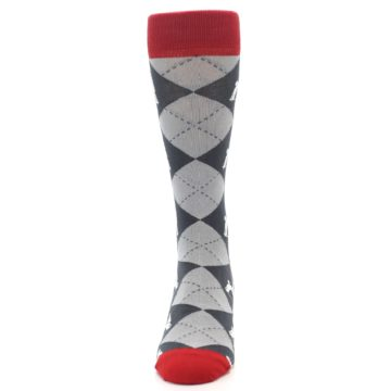 Image of Grey Tent Camping Argyle Men's Dress Socks (front-05)