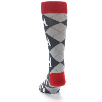 Image of Grey Tent Camping Argyle Men's Dress Socks (back-17)