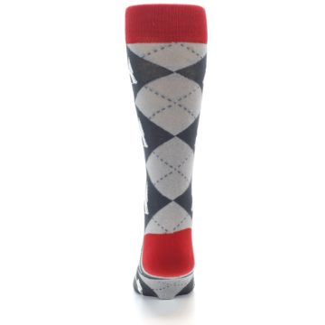 Image of Grey Tent Camping Argyle Men's Dress Socks (back-18)