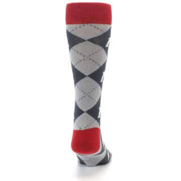 Image of Grey Tent Camping Argyle Men's Dress Socks (back-19)