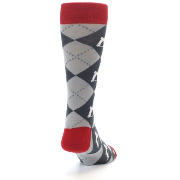 Image of Grey Tent Camping Argyle Men's Dress Socks (side-1-back-20)