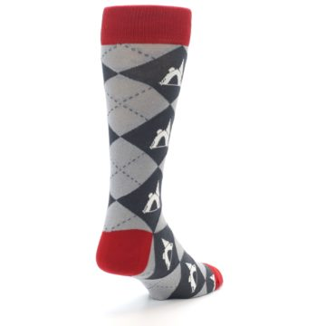 Image of Grey Tent Camping Argyle Men's Dress Socks (side-1-back-21)