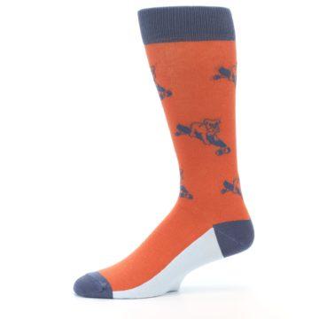 Image of Orange Skateboarding Bulldog Men's Dress Socks (side-2-11)