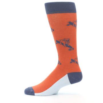 Image of Orange Skateboarding Bulldog Men's Dress Socks (side-2-12)