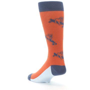 Image of Orange Skateboarding Bulldog Men's Dress Socks (side-2-back-15)