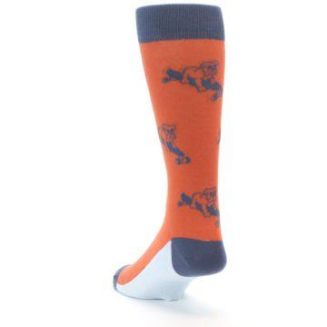 Image of Orange Skateboarding Bulldog Men's Dress Socks (side-2-back-16)