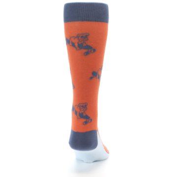 Image of Orange Skateboarding Bulldog Men's Dress Socks (back-19)
