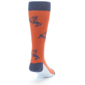 Image of Orange Skateboarding Bulldog Men's Dress Socks (side-1-back-20)