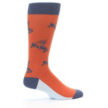 Image of Orange Skateboarding Bulldog Men's Dress Socks (side-1-24)