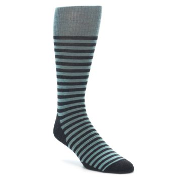 Smartwool Men's Lifestyle Stria Crew Socks Canton Heather Blue. Made with Merino Wool.
