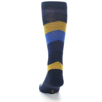Image of Blue Gold Chevron Wool Men's Casual Socks (back-17)