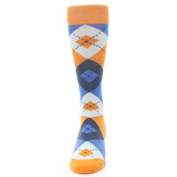 Image of Orange Blues Argyle Men's Dress Socks (front-05)
