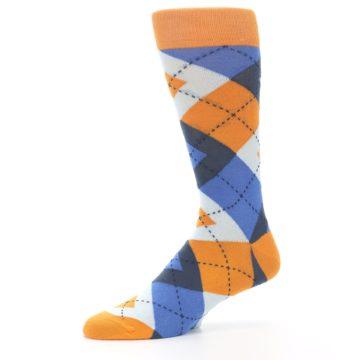 Image of Orange Blues Argyle Men's Dress Socks (side-2-10)