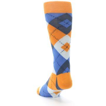 Image of Orange Blues Argyle Men's Dress Socks (side-2-back-16)