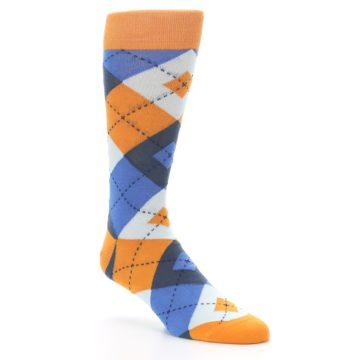 Image of Orange Blues Argyle Men's Dress Socks (side-1-27)