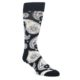Image of Black White Paisley Men's Dress Socks Gift Box 4 Pack (front-04)