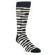 Image of Black White Paisley Men's Dress Socks Gift Box 4 Pack (front-05)