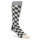 Image of Black White Paisley Men's Dress Socks Gift Box 4 Pack (side-2-front-06)