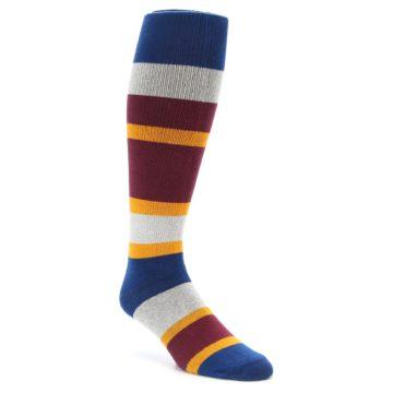 zkano Maroon Over the Calf Men's Socks with Organic Cotton