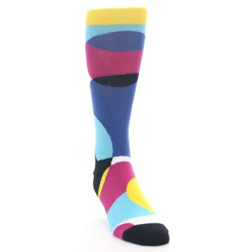 Image of Multi-Color Overlapping Circles Men's Dress Socks (side-1-front-03)