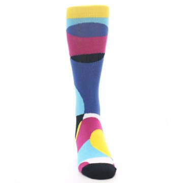 Image of Multi-Color Overlapping Circles Men's Dress Socks (front-04)