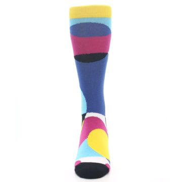 Image of Multi-Color Overlapping Circles Men's Dress Socks (front-05)